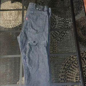 A black levi's black jean.